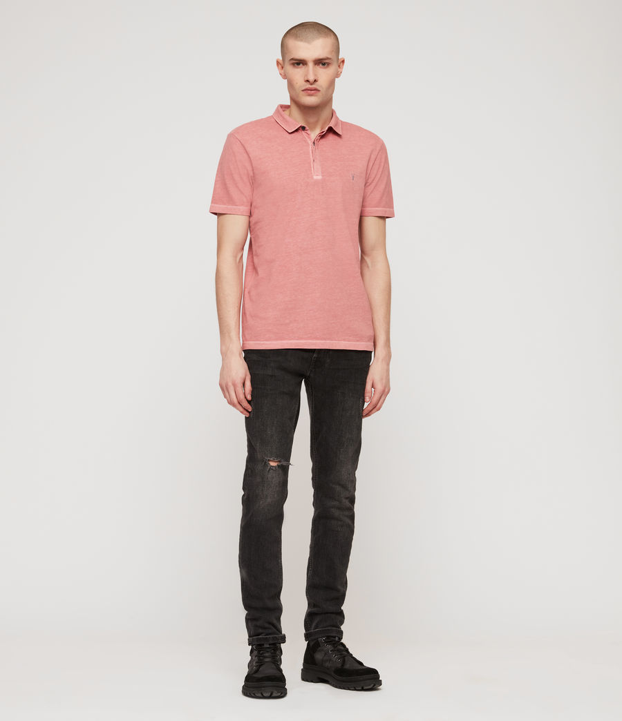 Men's Ossage Polo Shirt (moth_pink) - Image 3