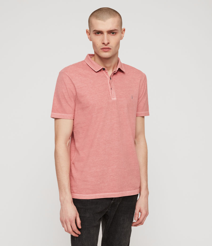 Men's Ossage Polo Shirt (moth_pink) - Image 4
