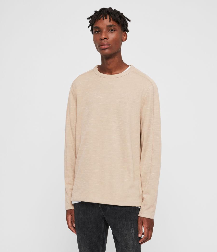 Mens Garnet Crew T-Shirt (taupe) - Image 4