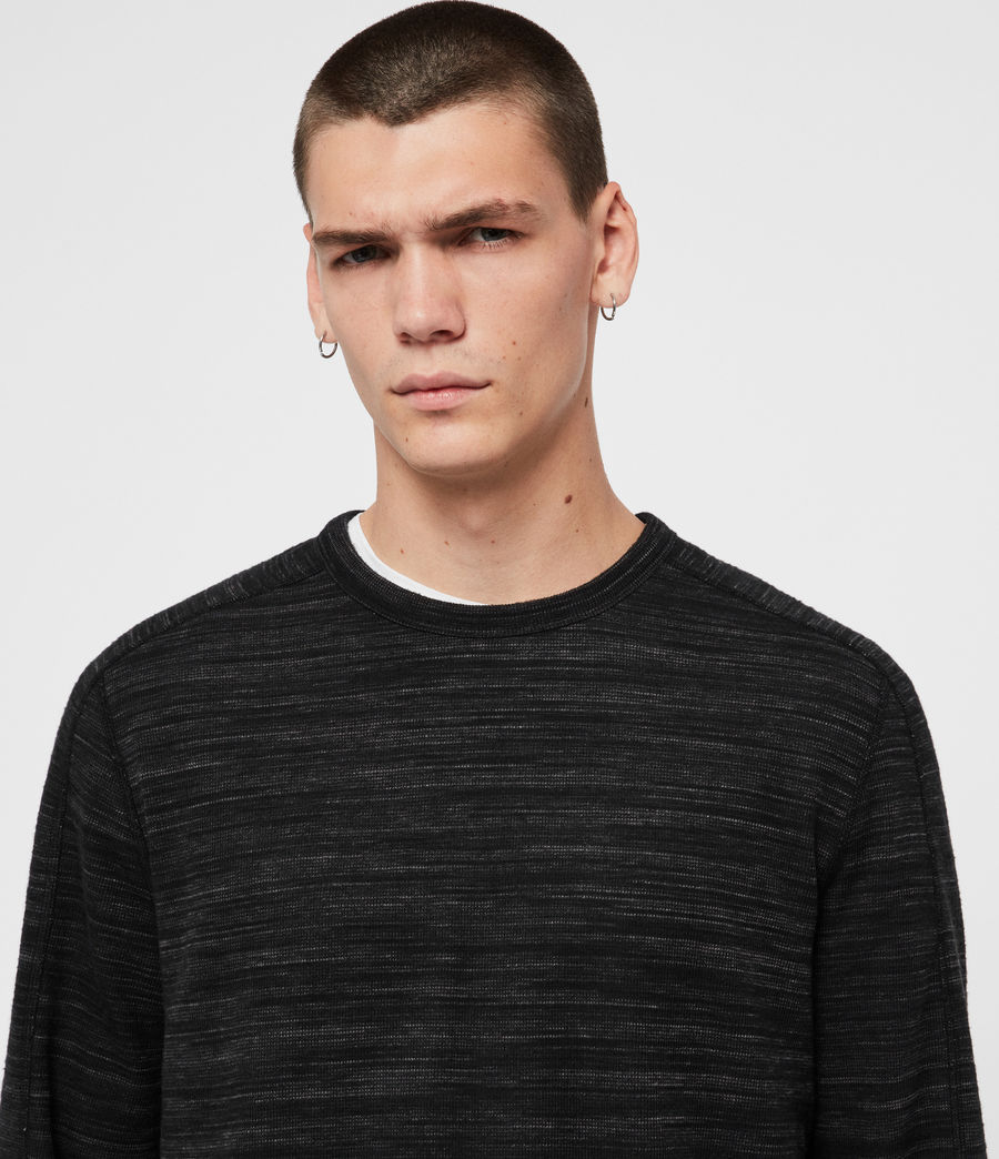 Mens Garnet Crew T-Shirt (charcoal_marl) - Image 2