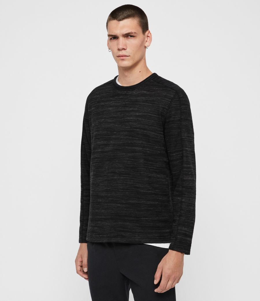 Men's Garnet Crew T-Shirt (black) - Image 4