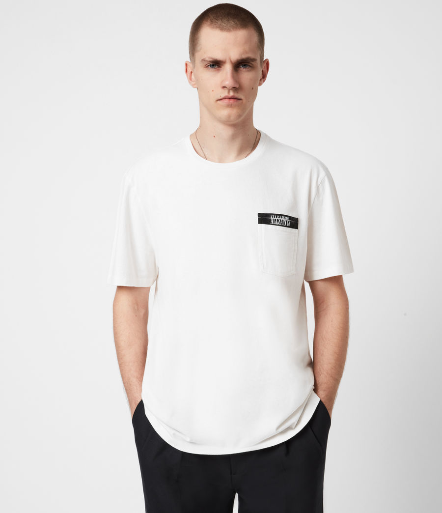 Mens Amar Crew T-Shirt (ash_white) - Image 1