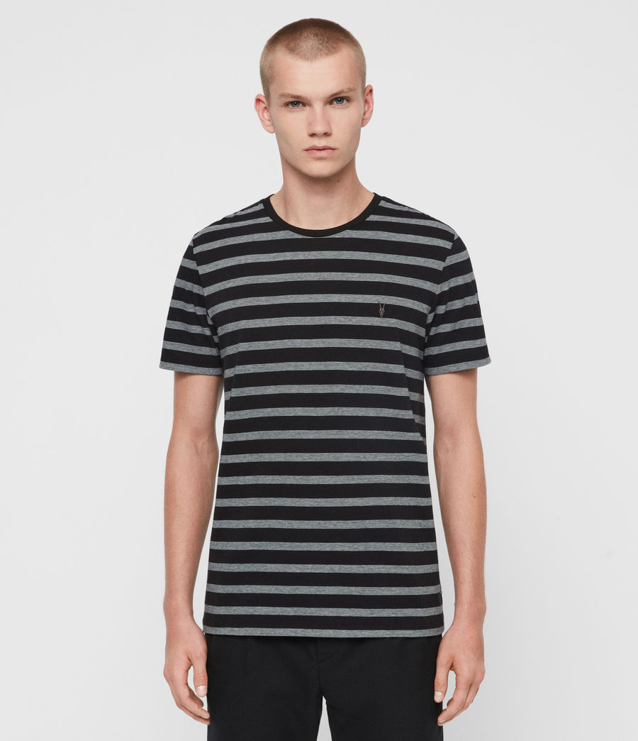 Mens Tonic Tate Crew T-Shirt (washed_black_white) - Image 1