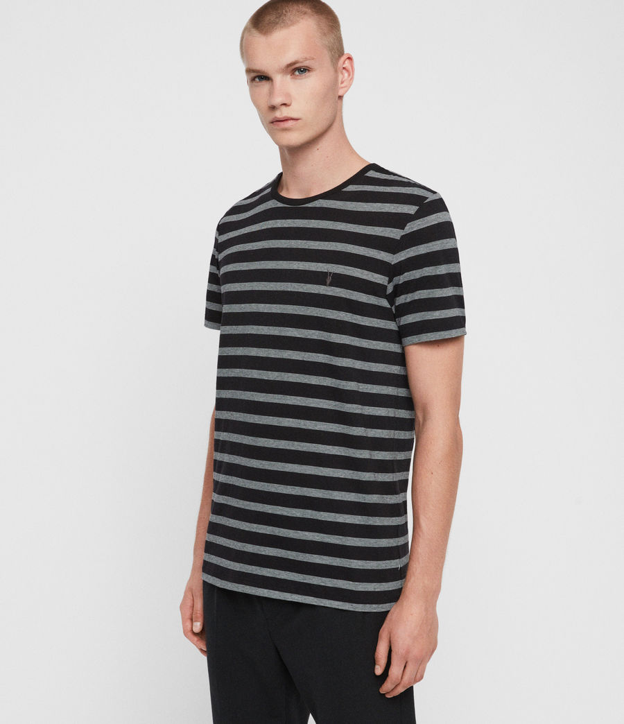 Men's Tonic Tate Crew T-Shirt (washed_black_white) - Image 4