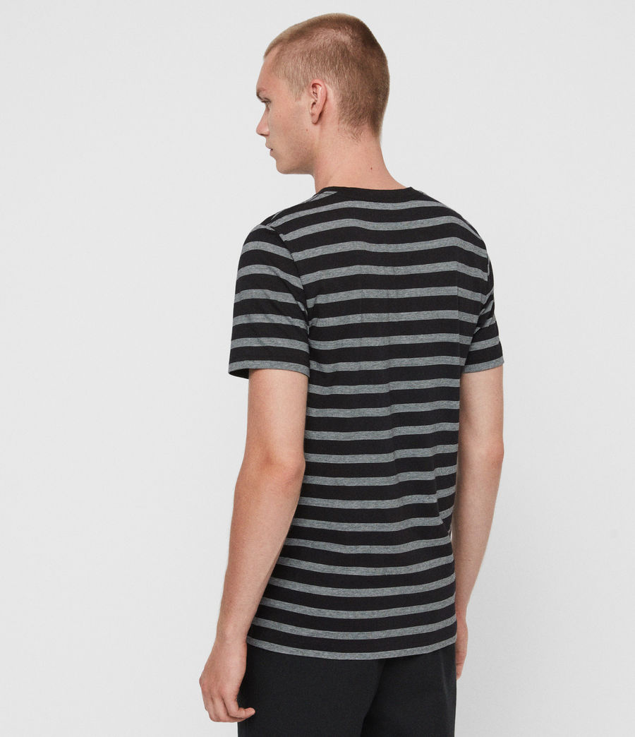 Hombres Camiseta Tonic Tate (washed_black_white) - Image 5