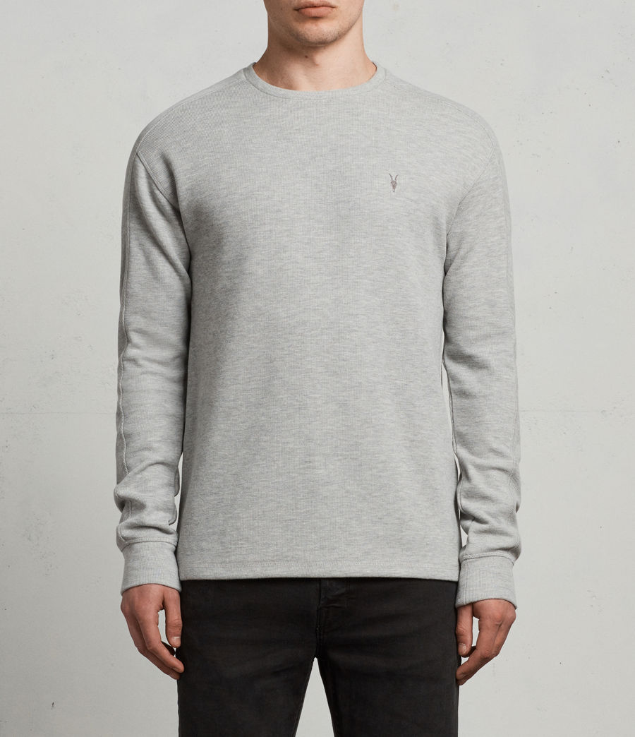 Mens Kruse Long Sleeve Crew Sweatshirt (Grey Marl) - Image 1