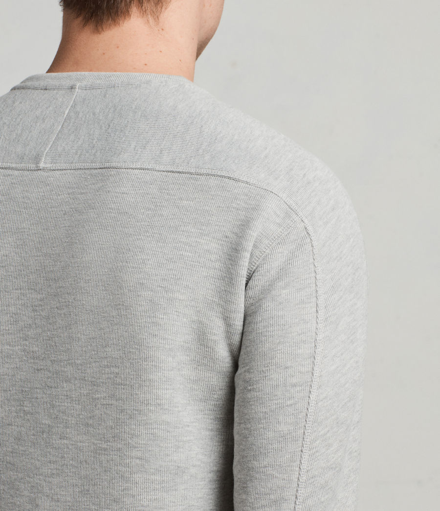 Mens Kruse Long Sleeve Crew Sweatshirt (Grey Marl) - Image 4