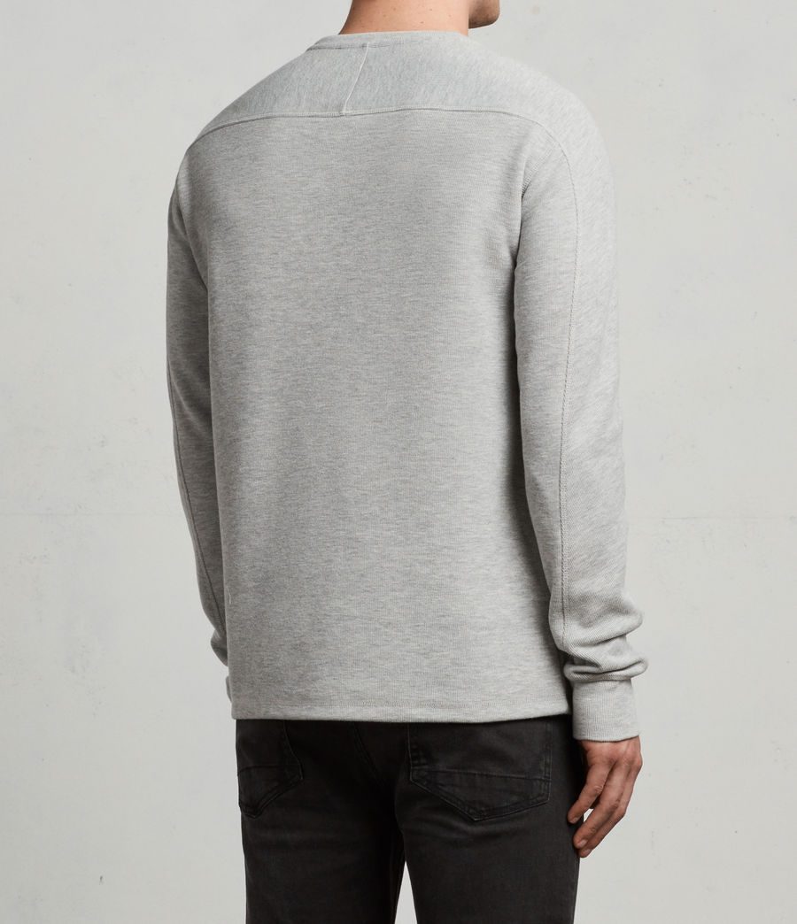 Mens Kruse Long Sleeve Crew Sweatshirt (grey_marl) - Image 5