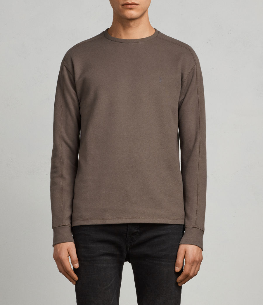 Mens Kruse Long Sleeve Crew Sweatshirt (olive_green) - Image 1