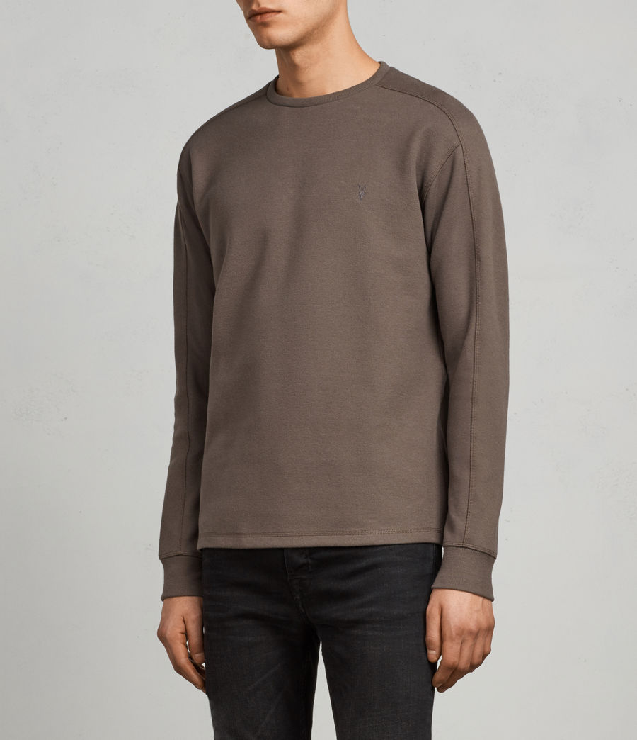 Mens Kruse Long Sleeve Crew Sweatshirt (olive_green) - Image 3