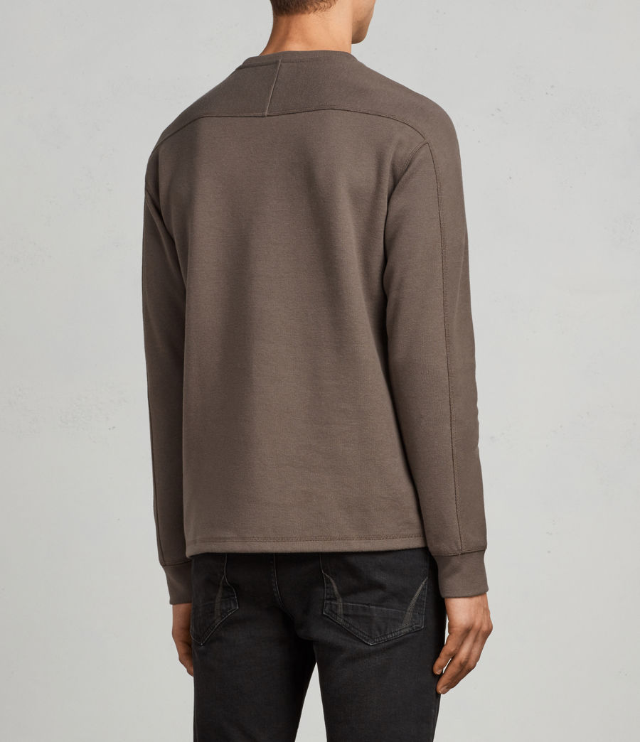Mens Kruse Long Sleeve Crew Sweatshirt (olive_green) - Image 4