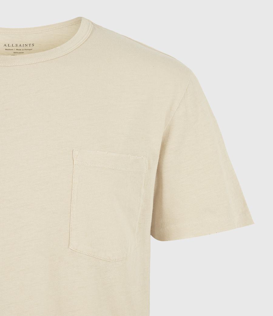 Mens Gage Organic Cotton Crew T-Shirt (cabana_yellow) - Image 5