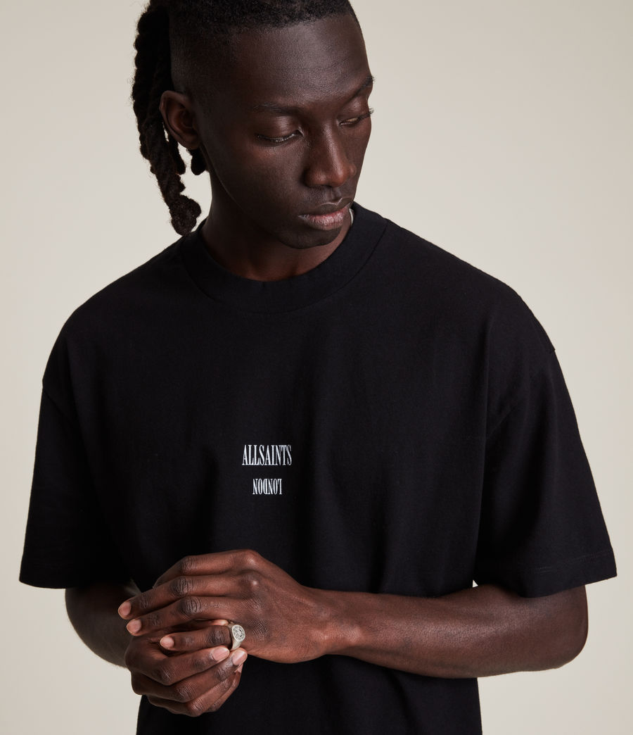 Men's Dixon Crew T-Shirt (jet_black) - Image 2