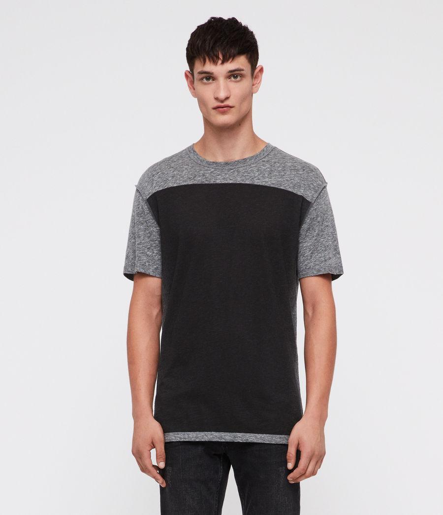 Hombre Eudon Crew T-Shirt (grey_mouline) - Image 1