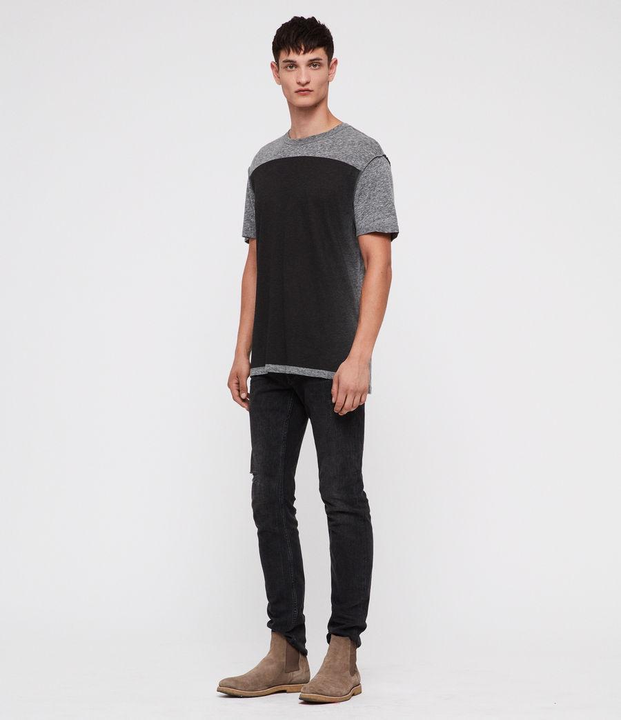 Hombre Eudon Crew T-Shirt (grey_mouline) - Image 3