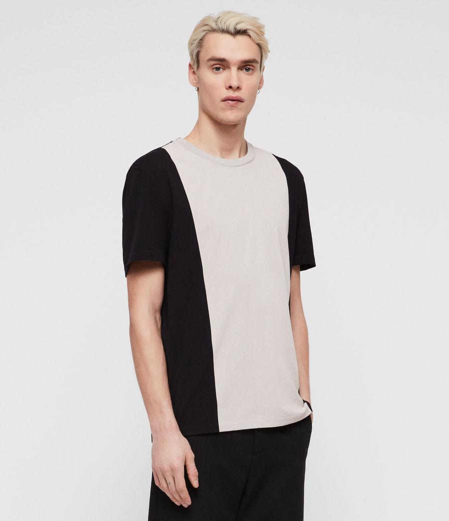 Men's Helix Crew T-Shirt (jet_black_chalk) - Image 1