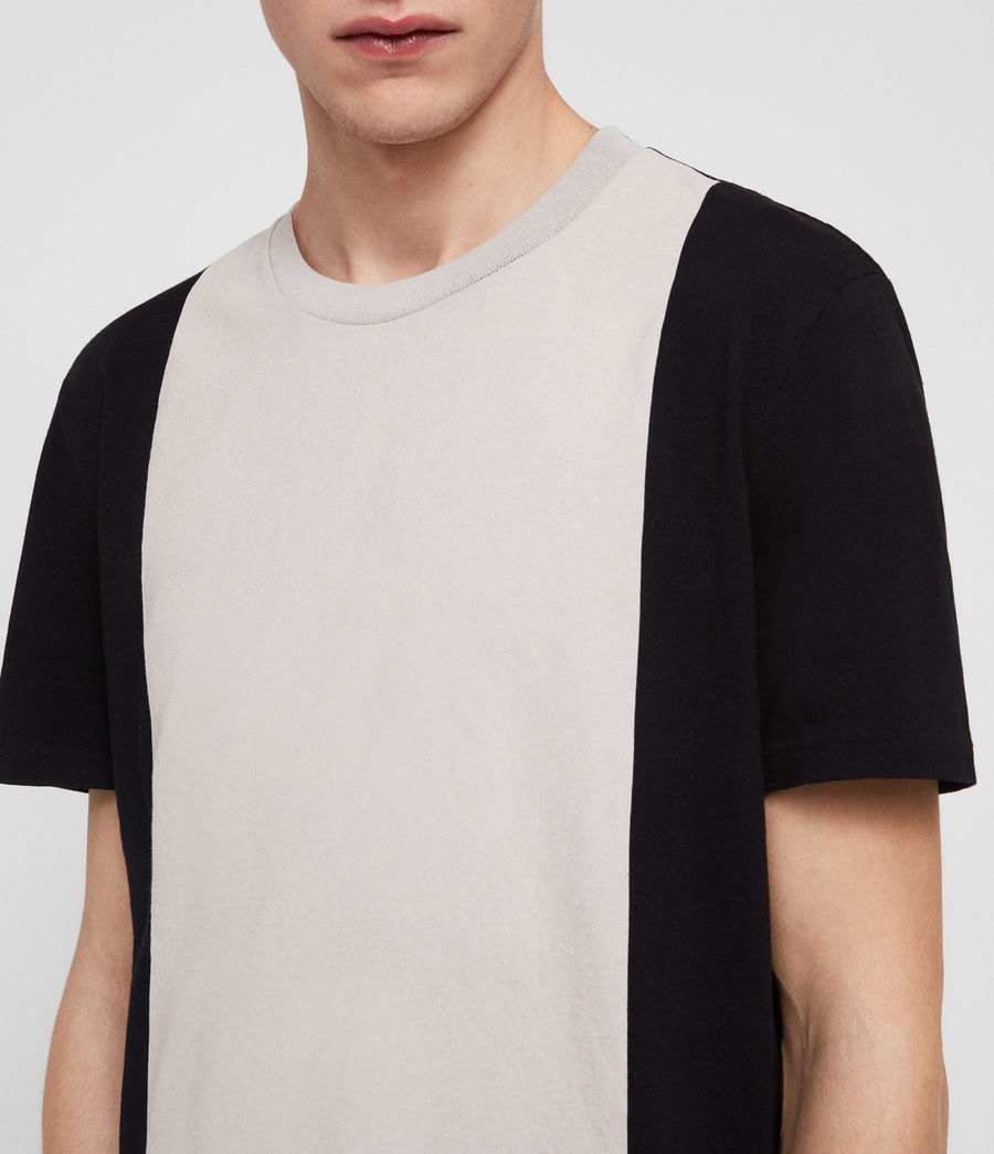 Men's Helix Crew T-Shirt (jet_black_chalk) - Image 2