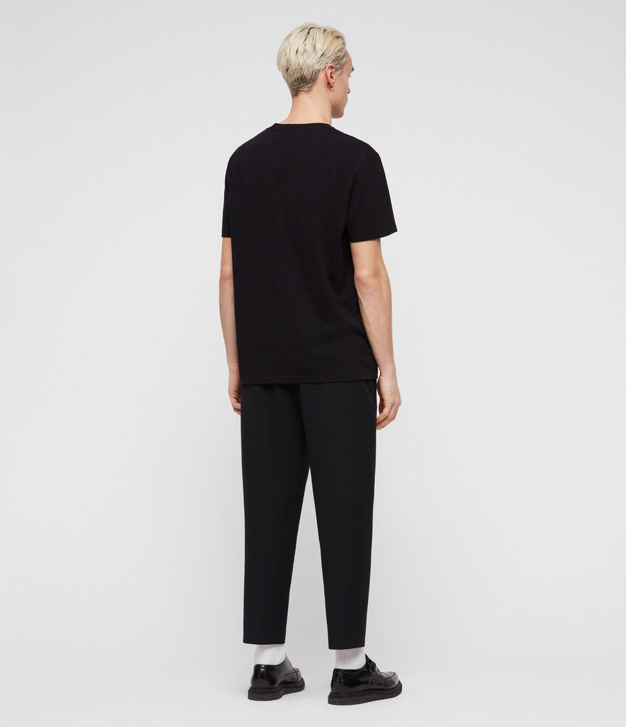 Men's Helix Crew T-Shirt (jet_black_chalk) - Image 4