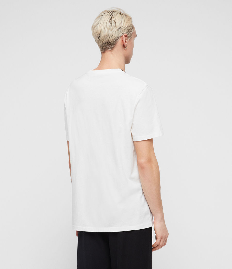 Men's Helix Crew T-Shirt (chalk_white_black) - Image 4