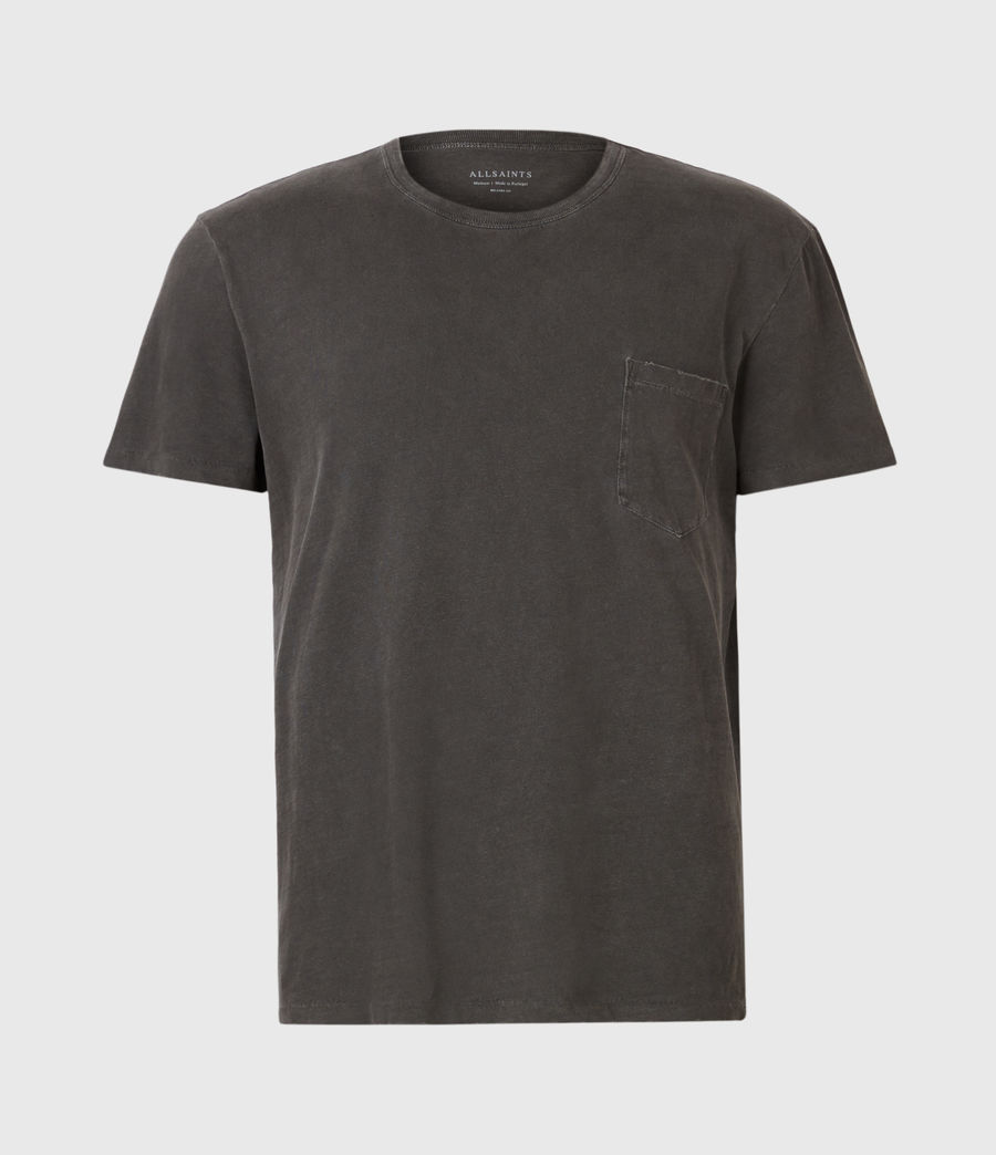 Herren Pilot Crew T-Shirt (washed_black) - Image 2