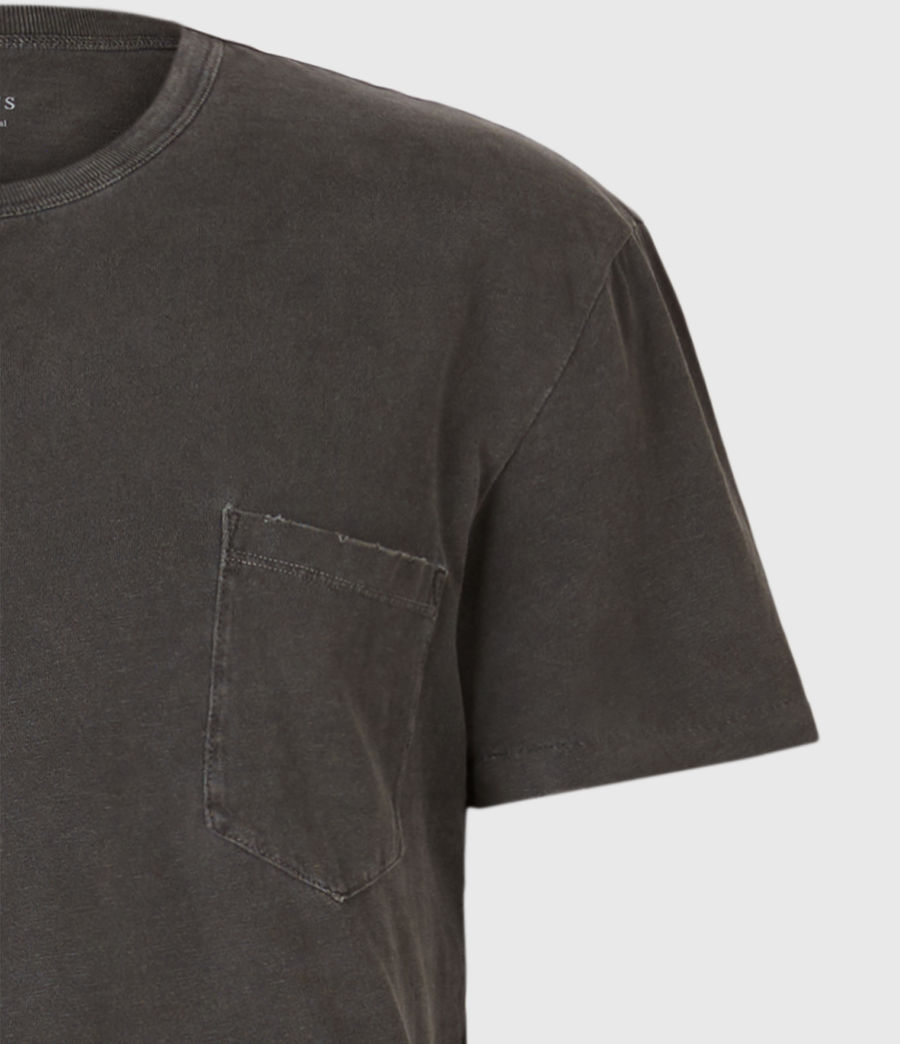 Herren Pilot Crew T-Shirt (washed_black) - Image 5