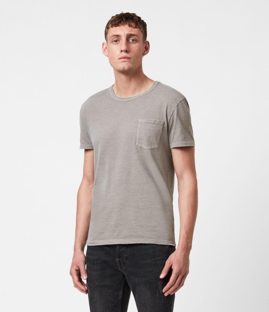 Mens Pilot Crew T-Shirt (putty_grey) - Image 1