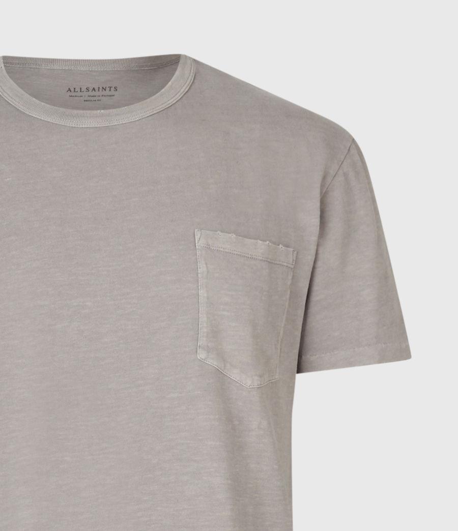 Mens Pilot Crew T-Shirt (putty_grey) - Image 4