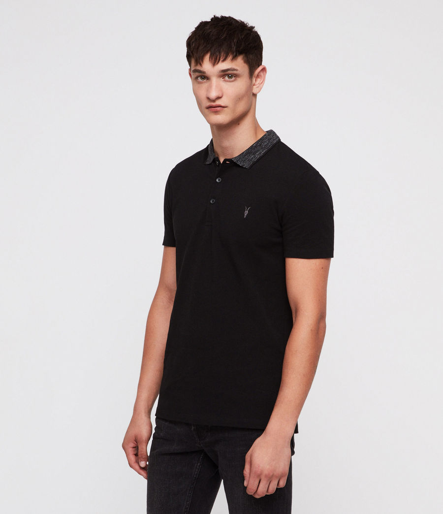 Mens Baytown Polo Shirt (jet_black) - Image 1