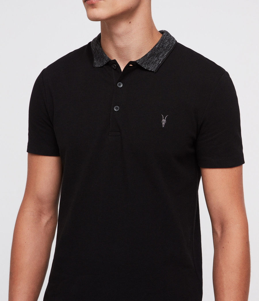 Mens Baytown Polo Shirt (jet_black) - Image 2