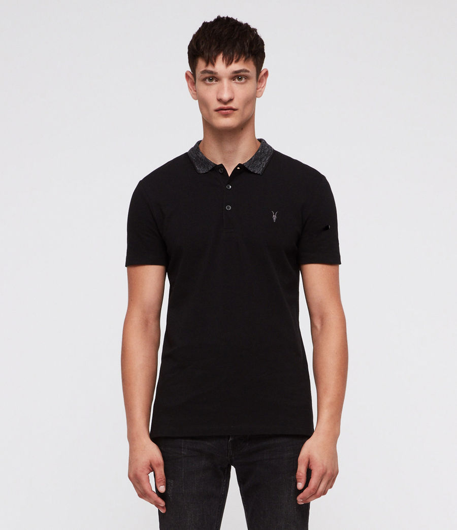 Mens Baytown Polo Shirt (jet_black) - Image 3