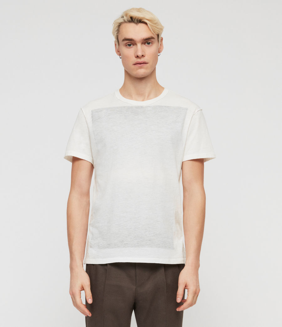 Mens Cadfer Fade Crew T-Shirt (chalk_white_black) - Image 1