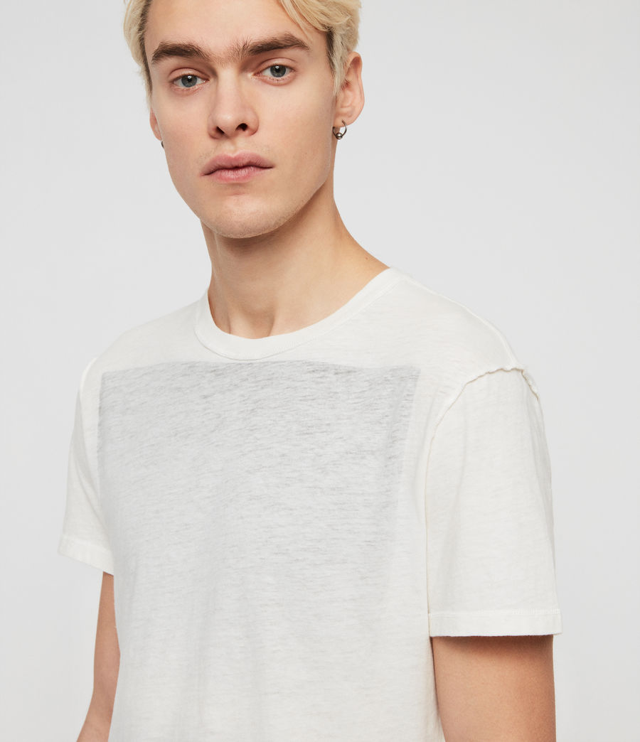 Mens Cadfer Fade Crew T-Shirt (chalk_white_black) - Image 2