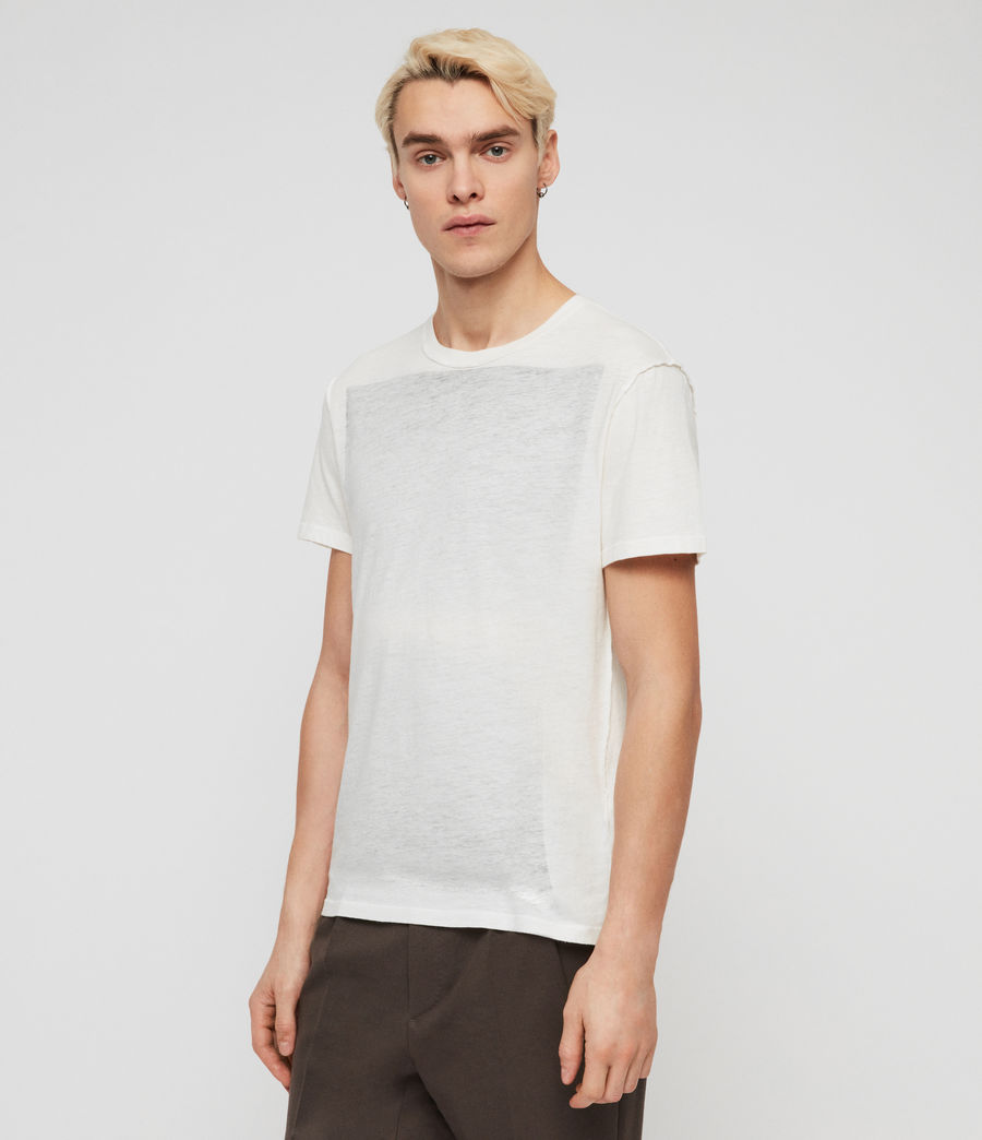 Mens Cadfer Fade Crew T-Shirt (chalk_white_black) - Image 4
