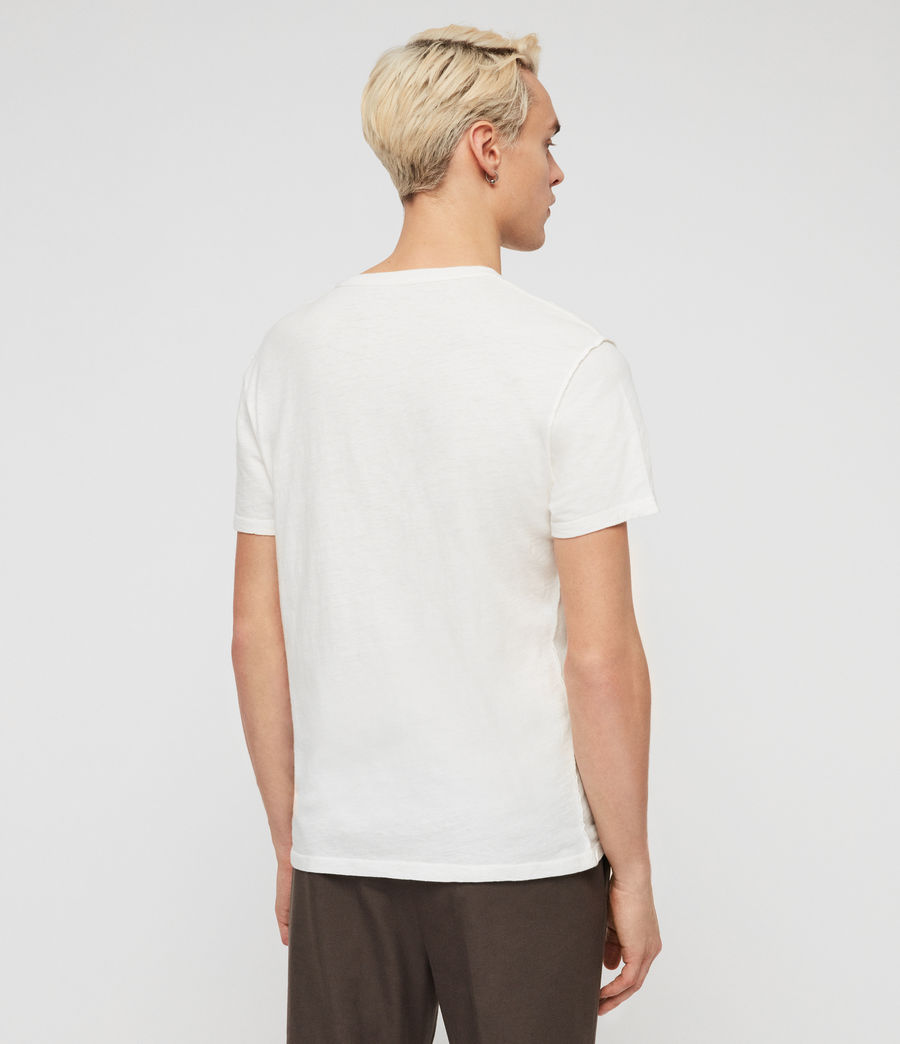 Mens Cadfer Fade Crew T-Shirt (chalk_white_black) - Image 5