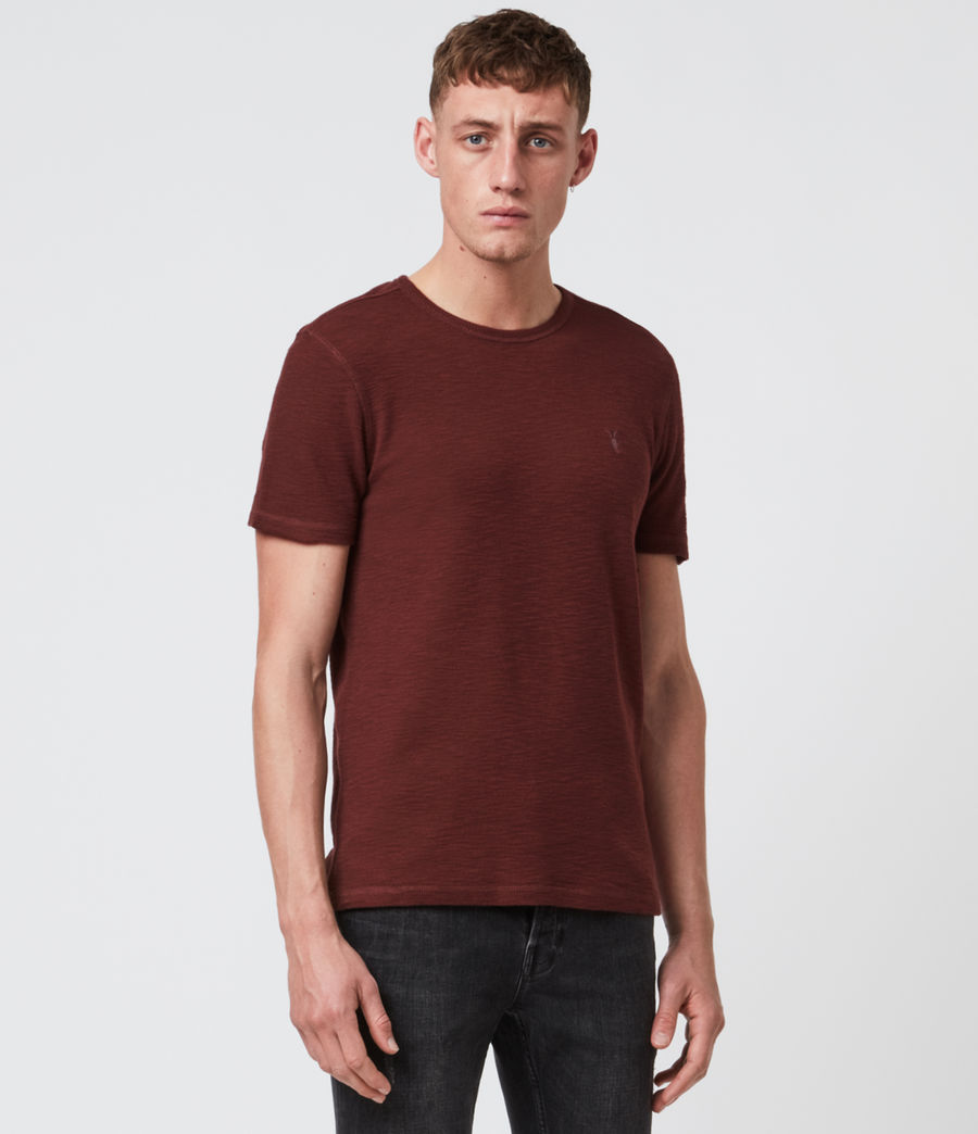 Hombre Muse Short Sleeve Crew T-Shirt (burgundy_red) - Image 1