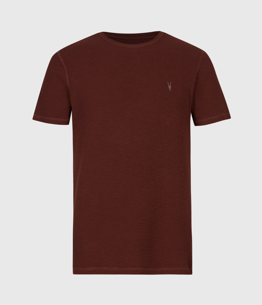 Hombre Muse Short Sleeve Crew T-Shirt (burgundy_red) - Image 2