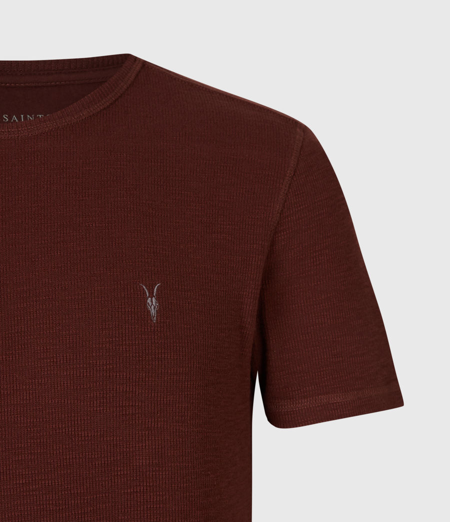 Hombre Muse Short Sleeve Crew T-Shirt (burgundy_red) - Image 4
