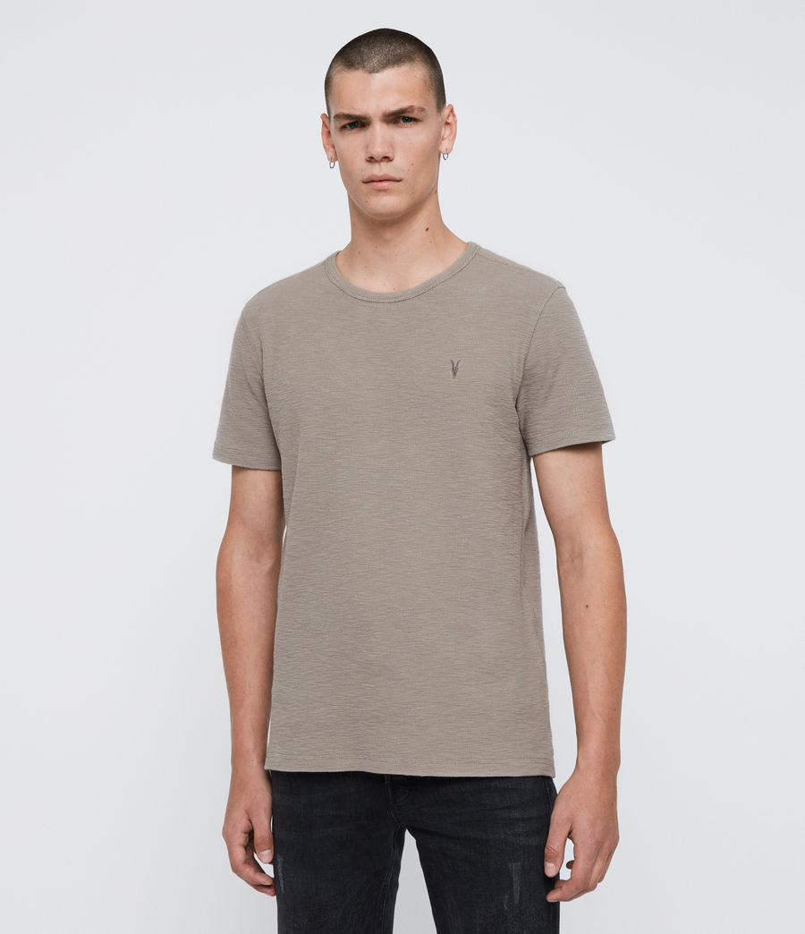 Mens Muse Short Sleeve Crew T-Shirt (khaki_brown) - Image 1