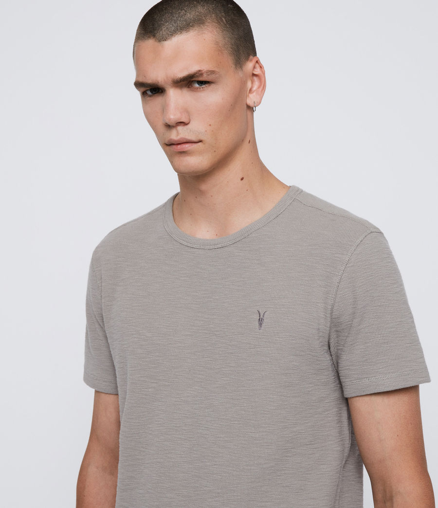 Herren Muse Short Sleeve Crew T-Shirt (cement_grey) - Image 2