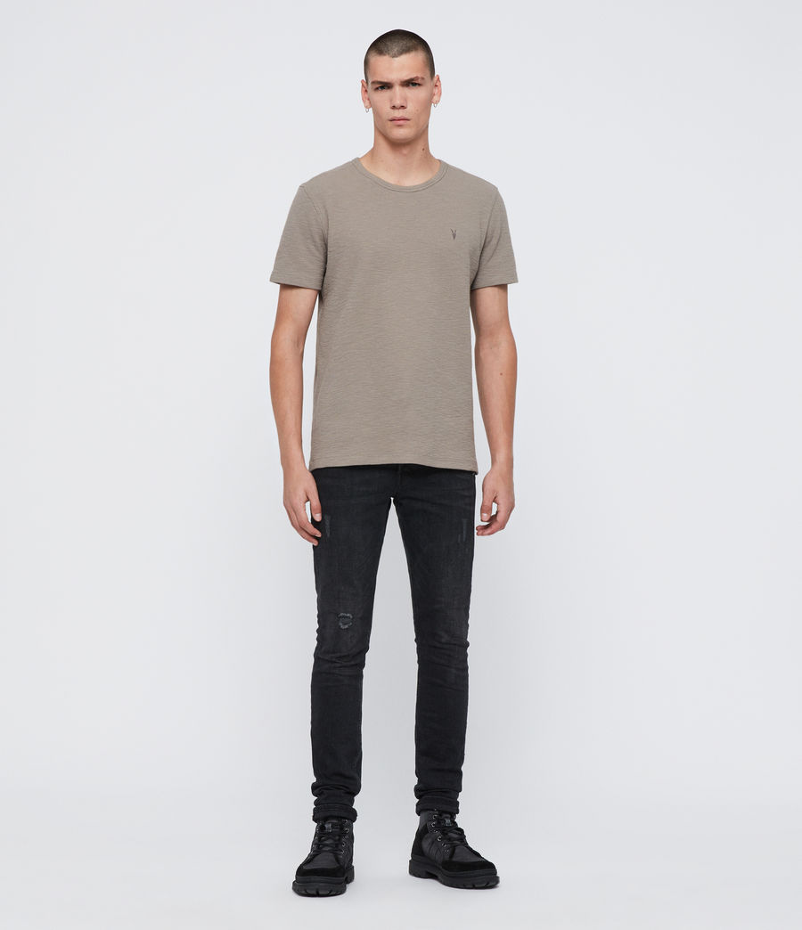 Herren Muse Short Sleeve Crew T-Shirt (cement_grey) - Image 3