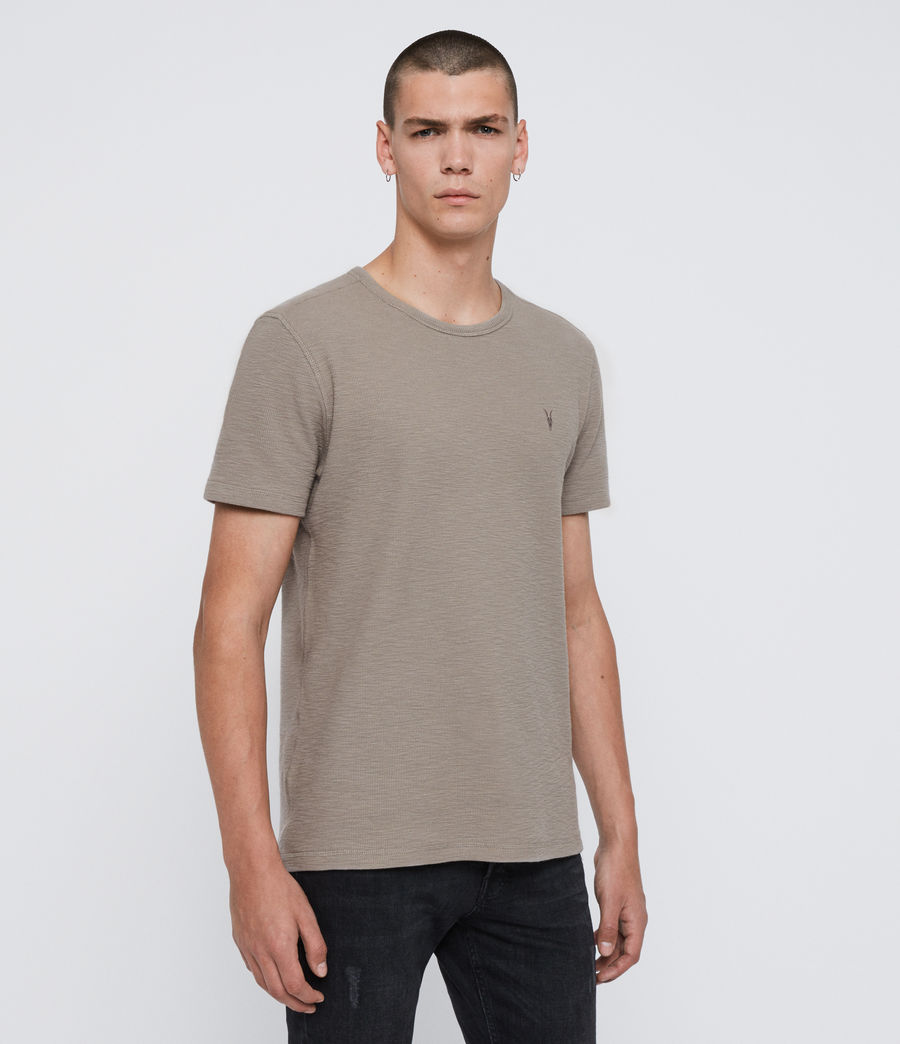 Herren Muse Short Sleeve Crew T-Shirt (cement_grey) - Image 4