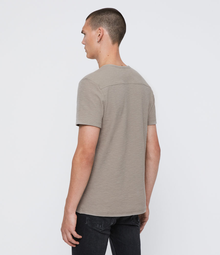 Herren Muse Short Sleeve Crew T-Shirt (cement_grey) - Image 5