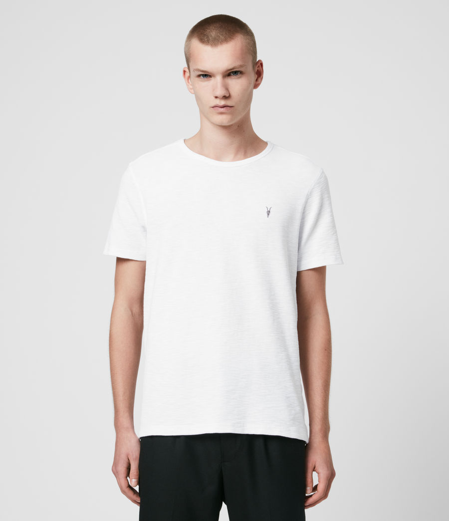 Hommes T-Shirt en Coton Gaufré Muse (optic_white) - Image 1
