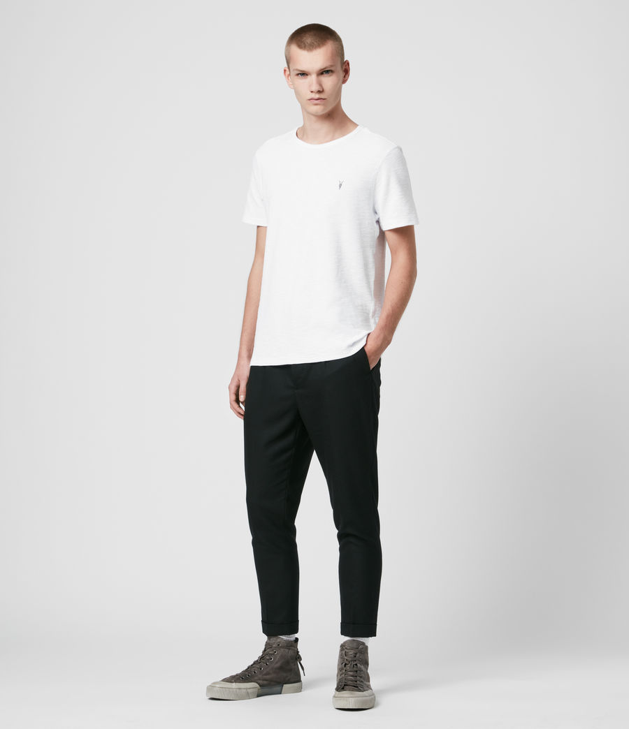 Hommes T-Shirt en Coton Gaufré Muse (optic_white) - Image 3