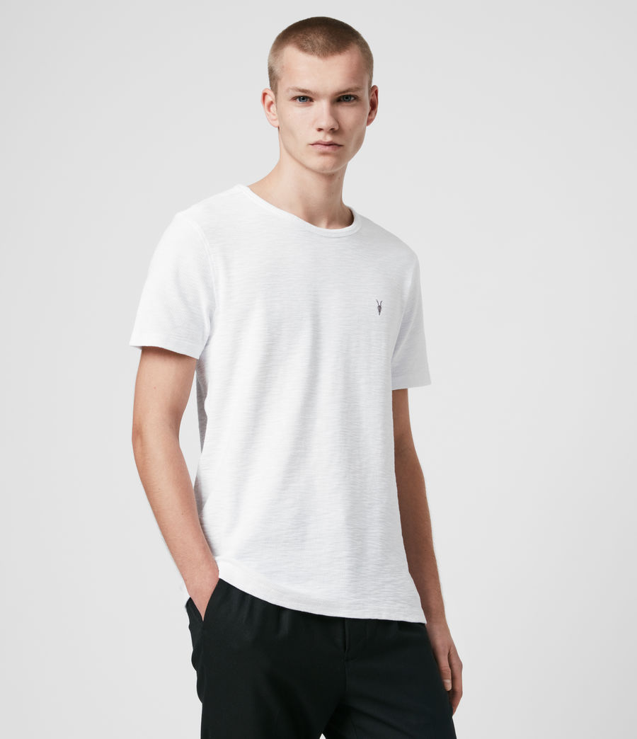 Hommes T-Shirt en Coton Gaufré Muse (optic_white) - Image 4