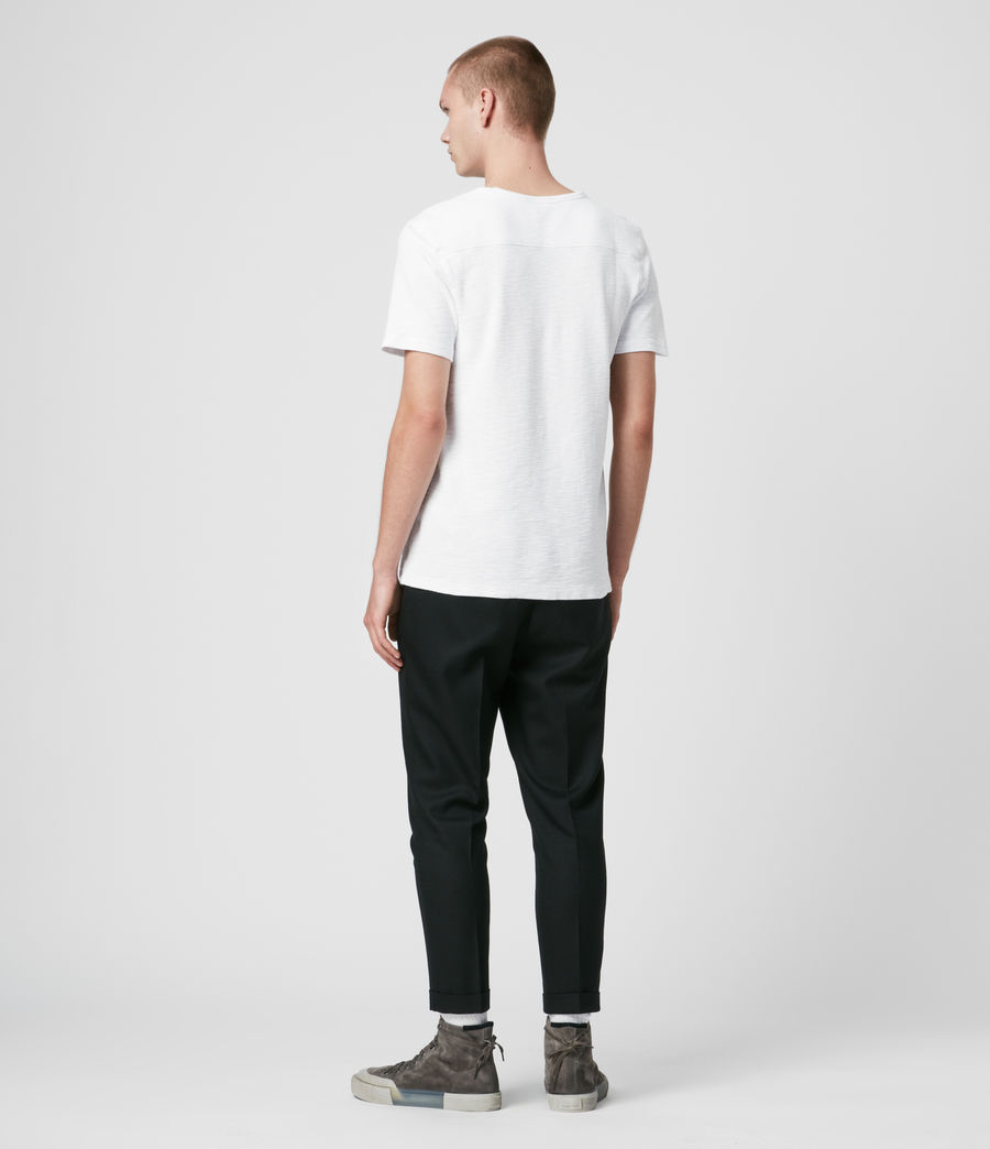 Hommes T-Shirt en Coton Gaufré Muse (optic_white) - Image 5