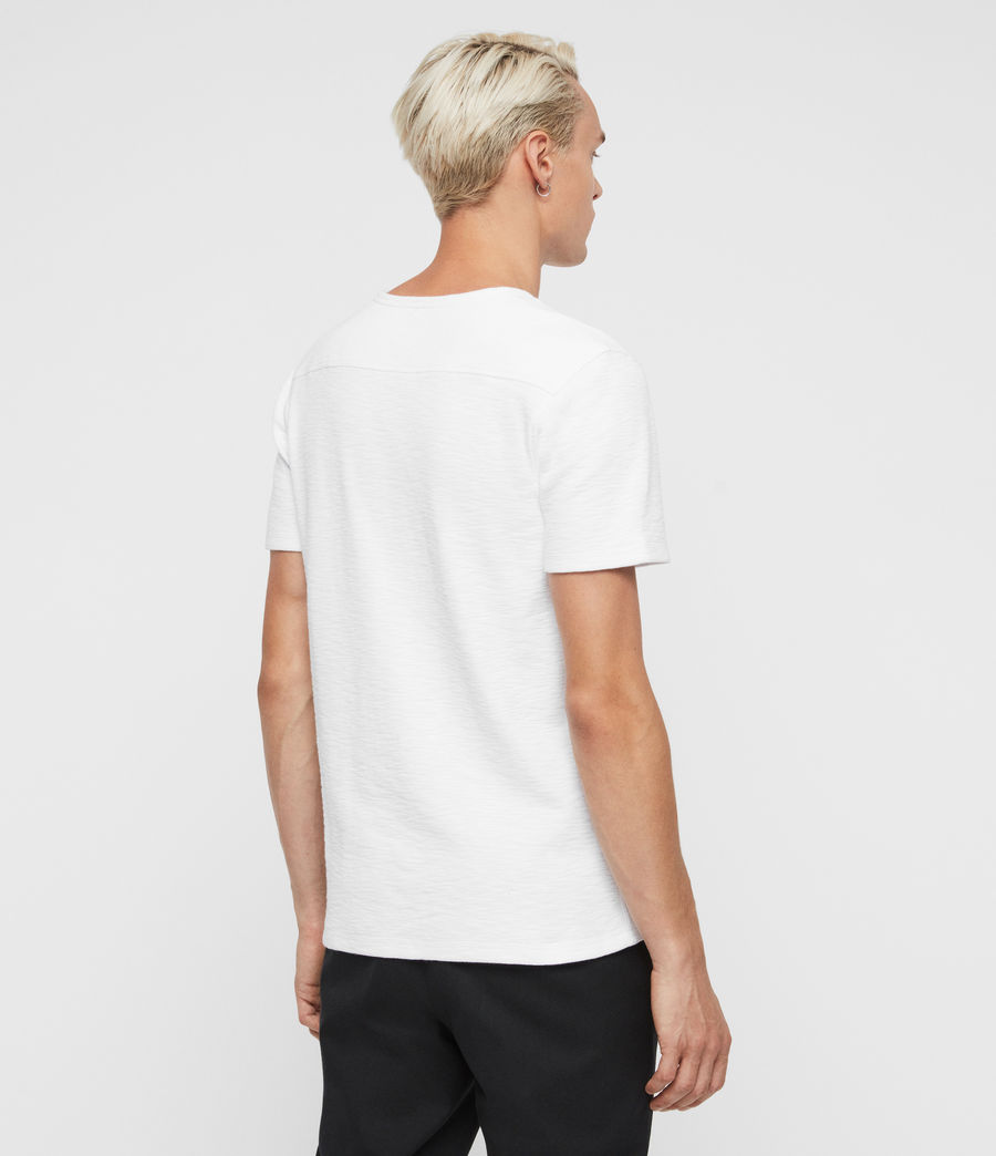 Mens Muse Short Sleeve Crew T-Shirt (optic_white) - Image 6