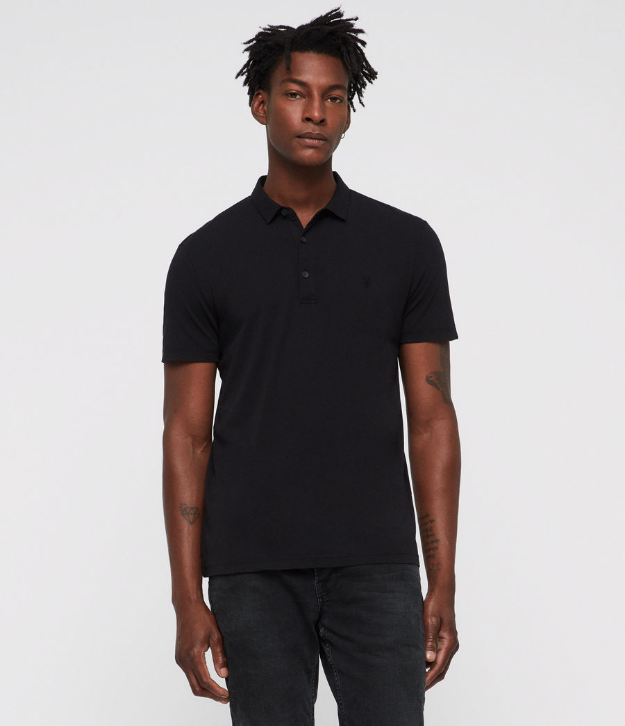 Men's Brett Polo Shirt (jet_black) - Image 1