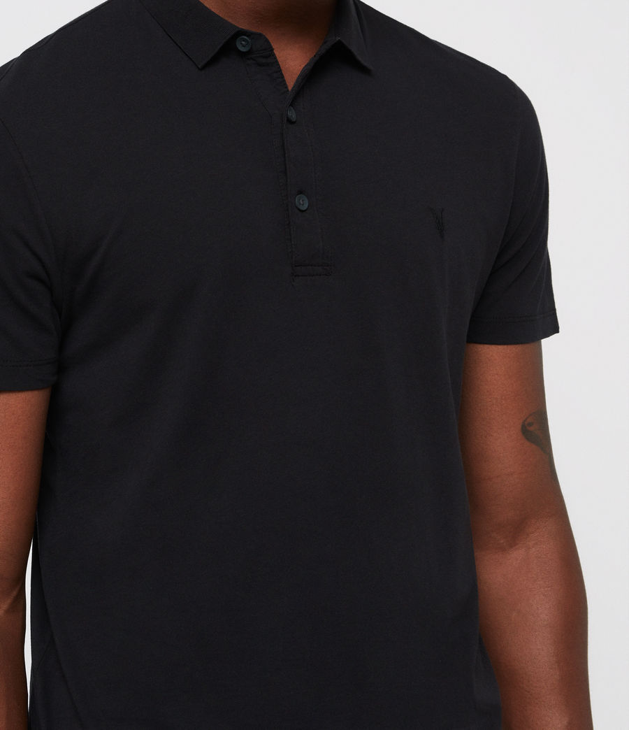 Men's Brett Polo Shirt (jet_black) - Image 2