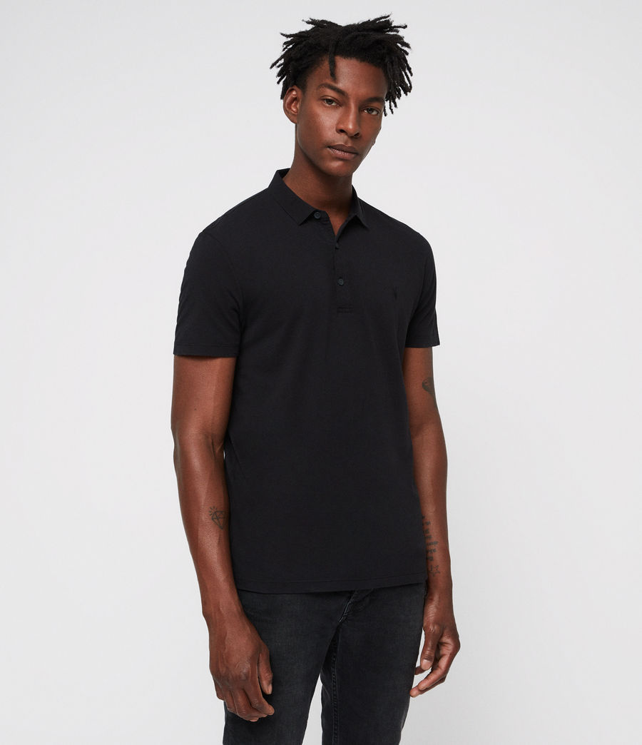 Men's Brett Polo Shirt (jet_black) - Image 3